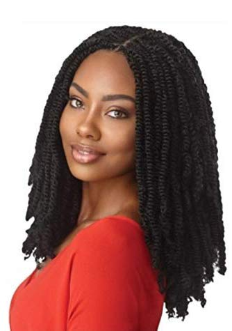 """MULTI PACK DEALS! Outre Synthetic Braid - X PRESSION TWISTED UP SPRINGY AFRO TWIST 24"""" (3-Pack, 1B)"""