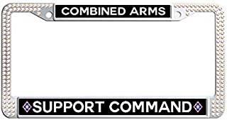 JiuzFrameat Colorful Diamond Combined Arms Support Command License Frame car Shining Metal Car License Plate Holder