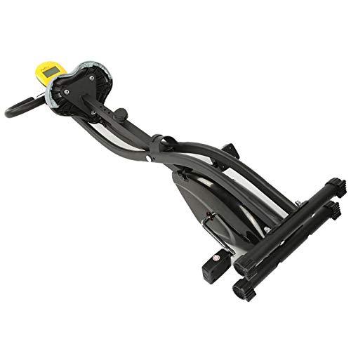 Bicicleta estática Plegable Que Ahorra Espacio, Bicicleta estática, Mini Pantalla Digital Puede Adaptarse a la Altura del Usuario y ofrecer más Comodidad, no ocupa Mucho Espacio