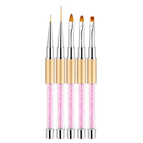 masrin Nagelspitzen UV Gel Kristall Acryl Malerei Zeichnung Stift Polierpinsel Stiftwerkzeug 5...