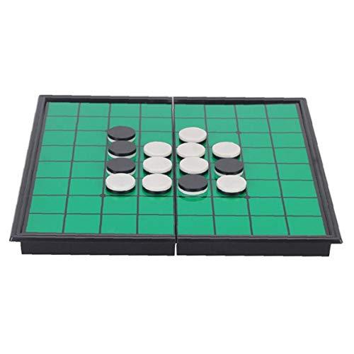 shentaotao Othello Portable Folding Othello Game Reversi Othello Strategy Board Game Green