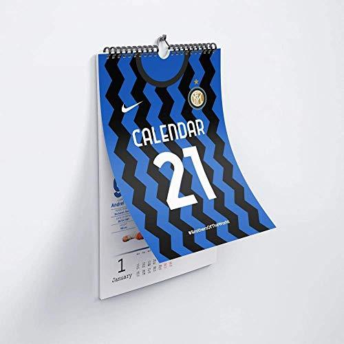 Inter Milan Fans 2021 - Poster per la stagione 2021, calendario per inviare compagni di classe, tifosi di calcio, regalo di compleanno