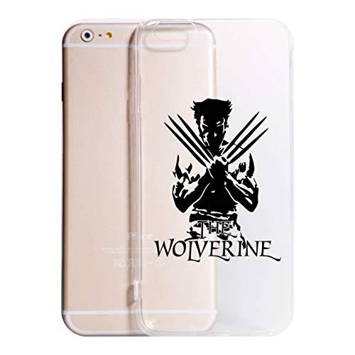 Social Crazy Cover iPhone X 8-8PLUS 6-6 Plus - 6S - 6S Plus - 7-7 Plus - The Wolverine Trasparente Vari Colori UltraSottili AntiGraffio Antiurto Case Custodia (iPhone 8, Trasparente)