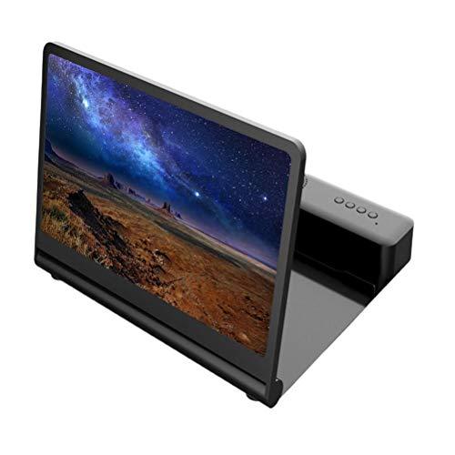 Gazaar Lupa de 12 pantallas, proyector de lupa de teléfono móvil 3D HD para películas,vídeos y juegos,soporte plegable para teléfono con amplificador de pantalla,compatible con todos los smart