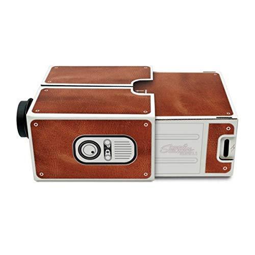 HaiQianXin DIY Mini-Smartphone-Projektor tragbarer Telefon-Projektor-Handy-Heimkino-Kino