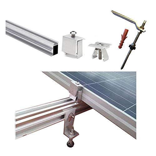 Estructura Placa solar Alu tejado perforante Solar panel structure (2 paneles)