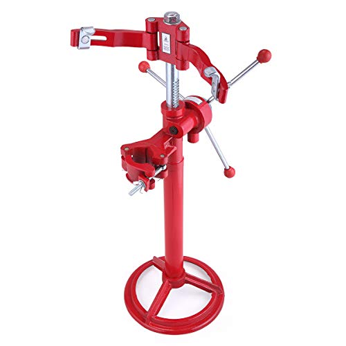 JAXPETY 46' Max Height Red Steel Hand Operated Strut Coil Spring Press Compressor Machine