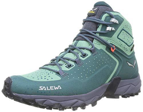 Salewa Damen WS Alpenrose 2 Mid Gore-TEX Trekking- & Wanderstiefel, Atlantic Deep/Feld Green, 38 EU