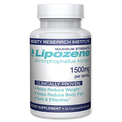 Lipozene Diet Pills - Weight Loss Supplement - Appetite Suppressant and Control - 60 Capsules - No Stimulants No Jitters