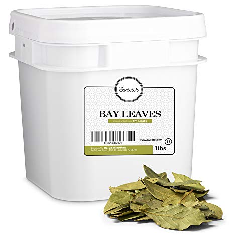 Sweeler, Bay Leaves, Value Large Bucket Size for Food Service or Home Use, 1lbs