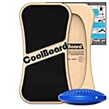 Large CoolBoard & Nimble Disc - the superior Balance Board/Wobble Board - ideal for beginners & physio - fully...
