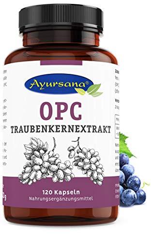Ayursana - Natürliches OPC Traubenkernextrakt, aus Frankreich (120 Kapseln) | 430 mg reines OPC je Tagesdosis | Apothekenqualität