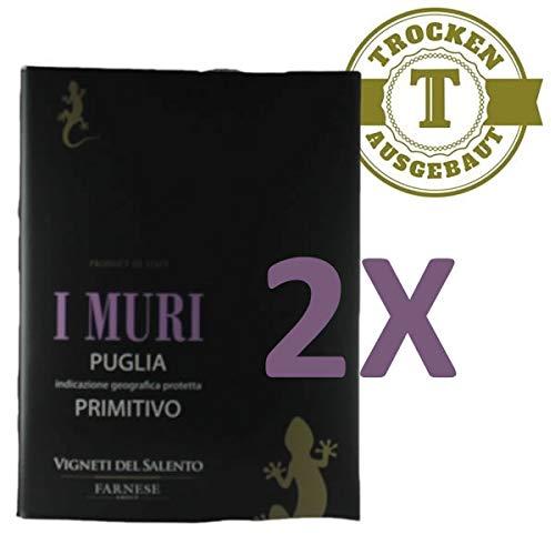 Rotwein Italien Primitivo I Muri Puglia Bag in Box trocken (2x5L)