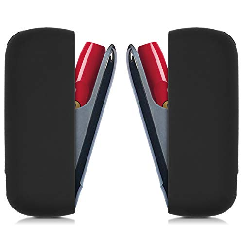 kwmobile Custodia Compatibile con IQOS 3 Pocket Charger - Case Protettiva in Silicone TPU - Astuccio per Kit Batteria e-Cig - Nero