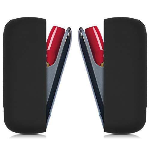 kwmobile Funda Compatible con IQOS 3 Pocket Charger - Carcasa Protectora de TPU Silicona - Cover Trasero Negro