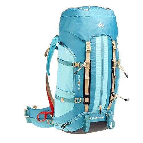 Quechua Easy Fit Damen Trekkingrucksack, 60 l, Blau, 8300844, blau, 60 l