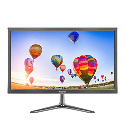 Monitor PC, Prechen 19 Pulgadas Gaming Monitor 1440x900 con Interfaz HDMI y VGA, Brillo 250 CD/m², Monitor 60 Hz con Altavoces Integrados, para PS3 / PS4 / Xbox/PC