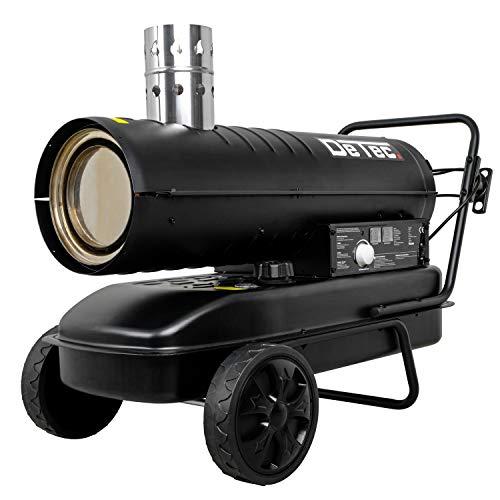 DeTec. DT-ZBH70 Dieselkanone Heizgebläse Ölheizgebläse 20 kW | schwarz | Leistung: 20.000 Watt, Gebläseleistung: 750m³/h, Tankvolumen: 38 L