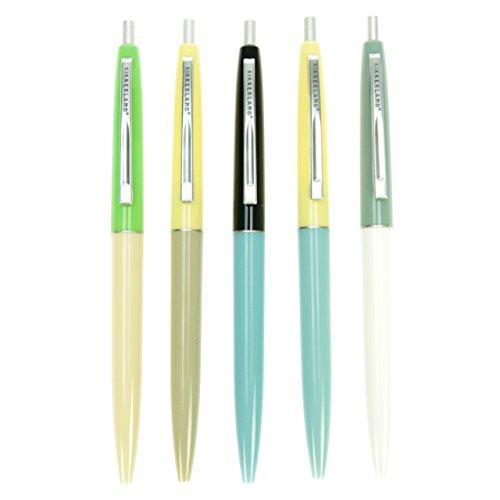 Kikkerland Retro Pens, Set of 5, Multi (4308-A)