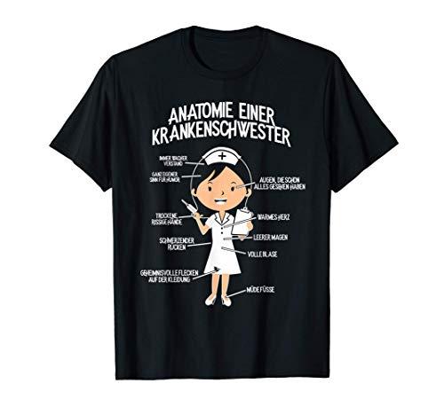 Lustiges Krankenpflegerin T-Shirt: Krankenschwester-Anatomie T-Shirt