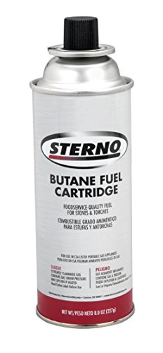 Sterno 50130 8-Ounce Butane Fuel Cartridges, (RETAIL 4-PACK)
