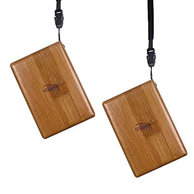 wifreo Bamboo Wood Fishing Fly Box, Pack of 2