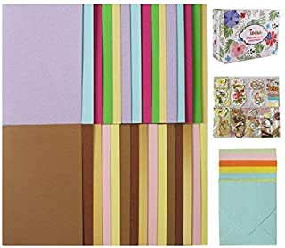 IDULL Greeting Card Making Kits with 30 Cards, 30 Envelopes and Embellishments