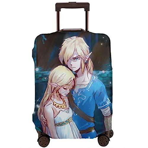 Legend Zelda - Custodia protettiva per valigia, lavabile e interessante, con elastico, bianco, L,