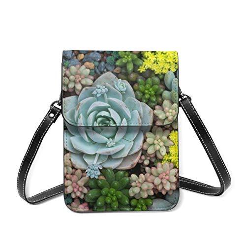 Borsa del telefono cellulare in miniatura piante grasse portafoglio borse a tracolla per le donne leggero borsa a tracolla