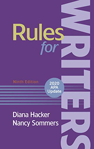 Rules for Writers with 2020 APA Update