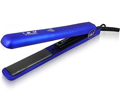 """ISO Beauty Spectrum Pro Diamond Collection 1.25"""" Hair Straightener Flat Iron (BLUE)"""