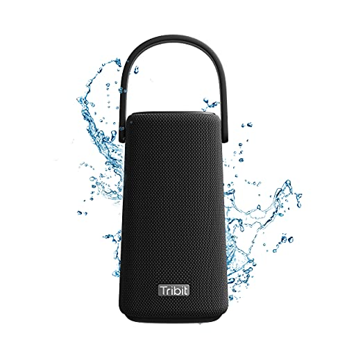 Tribit StormBox Pro bluetoothスピーカー ワイヤレススピーカー ポータブルスピーカー 360度スピーカー IPX7完全防水 20時間連続再生 ブルートゥーススピーカー 高音質 低音強化/内蔵マイク搭載 18ヶ月の保証 ブラック