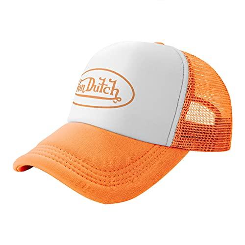 SAGELLA Trucker Hat Hip-Hop Sports Baseball Cap Casual Unisex Leisure Adjustable Size Orange