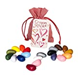 Crayon rocks - Ungiftige Kinder SOYA-Wachsmalstifte [Stiftgriff anregend] - dauerhaftige Kreide in Tasche - 20 natürliche wachsbar Liebe Farben - Zeichnen auf Papier und Stoff