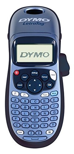 Dymo LetraTag LT-100H Label Maker ABC Keyboard, Black/Blue