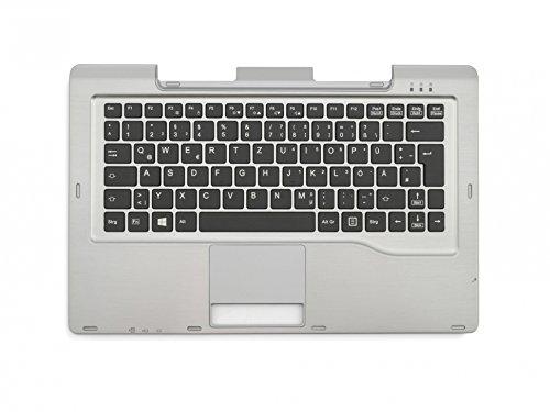 Fujitsu Tastatur inkl. Topcase DE (deutsch) schwarz/Silber Original FUJ:CP657608-XX Stylistic Q702