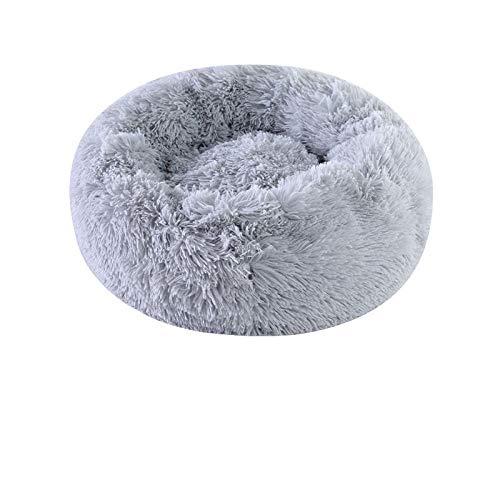 Promworld Hundekorb,Warmes und einfaches Katzenbett mit plüschigem Zwingerlicht Grey_70cm,Hundebett Hundekörbchen Hundesofa