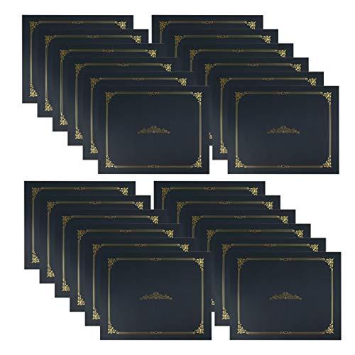 Fasmov Paquete de 24 fundas para diploma de certificado, perfectas para reconocimiento de premios, certificados, documentos y más, 11.2 x 9 pulgadas