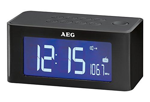 AEG MRC 4140 I Induktionstechnik Uhrenradio schwarz