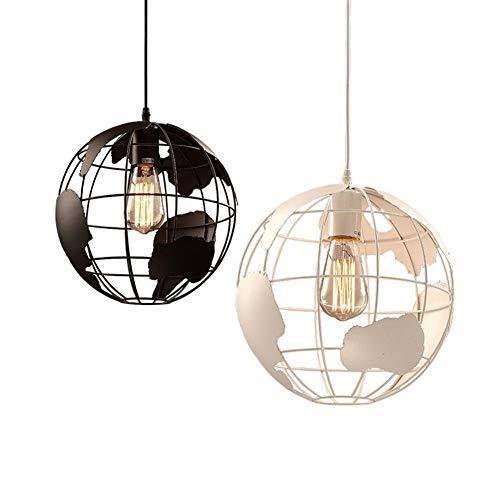 LED Pendelleuchten Höhenverstellbar Pendellampe e27 Cafe Schlafzimmer Stehtisch Restaurant Kronleuchter modernen Globus einzigen Kopf Kronleuchter @ white_20cm