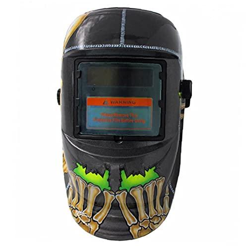 Casco de soldadura Auto Darkening Solar Powered Hood MIG TIG ARC Soldador Face Protección de los ojos Accesorios de seguridad Utilidad