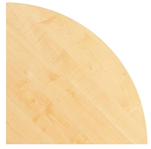 Unbekannt Konferenztisch - Platte (ohne Füße) / Viertelkreis KONTOR 80 x 80cm Ahorn