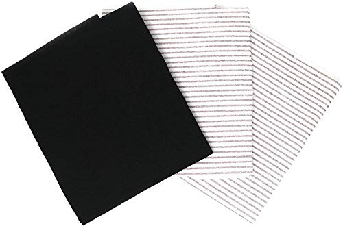 Clay Roberts Grease and Carbon Cooker Hood Filters, Pack of 3, Cut to Size, Vent Filters for All Cooker Hoods