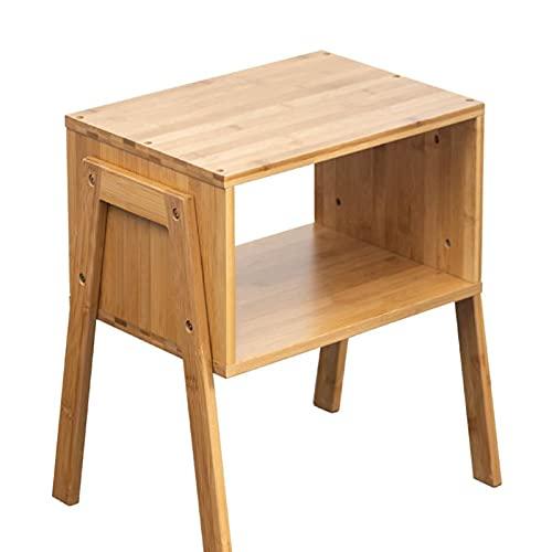 OKMJ Mesita de noche de madera simple y moderna, dormitorio de tronco se puede apilar con taquillas, sofá pequeño mesa de café, adecuado para habitaciones de invitados, dormitorios, oficinas
