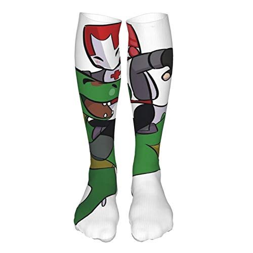Castle Crashers Red Knight Thick Socks Knee Stockings Fashion Casual Sports Socks Outdoor Hiking Dress Crew Socks