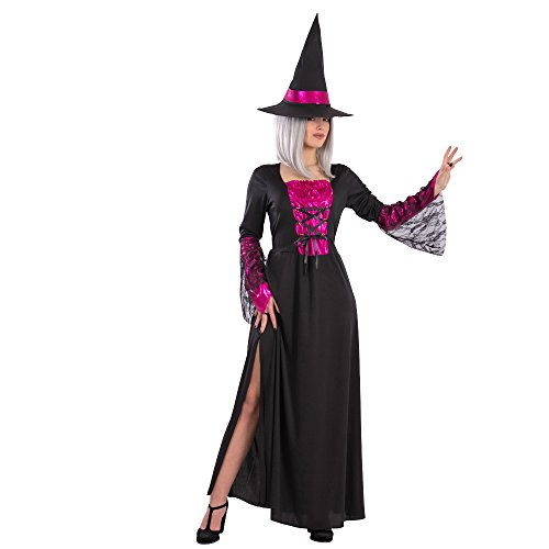 Carnival Toys Costume Strega Fatale per Adulti, Nero, Taglia Unica 82127