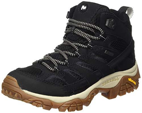 Merrell MOAB 2 Mid GTX, Zapatillas para Caminar, Sintético Mujer, Negro/Goma, 36 EU