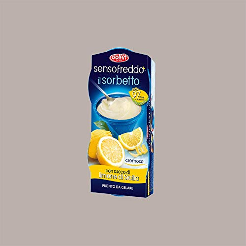 LUCGEL Srl 12 pz Sorbetto Senso Freddo DOLFIN con Succo di Frutta (Limone di Sicilia)