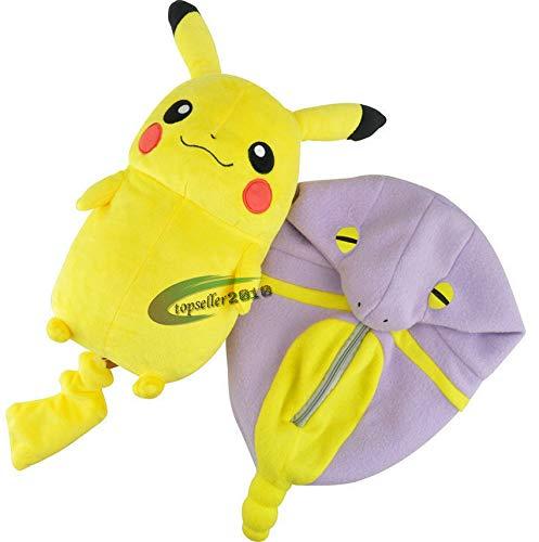 Süße Spielzeug Schlafsack Pikachu Eevee Plüsch Spielzeug Kissen gefüllt Cartoon Anime Puppe Kinder Geburtstagsgeschenk 30cm lila 1 STK