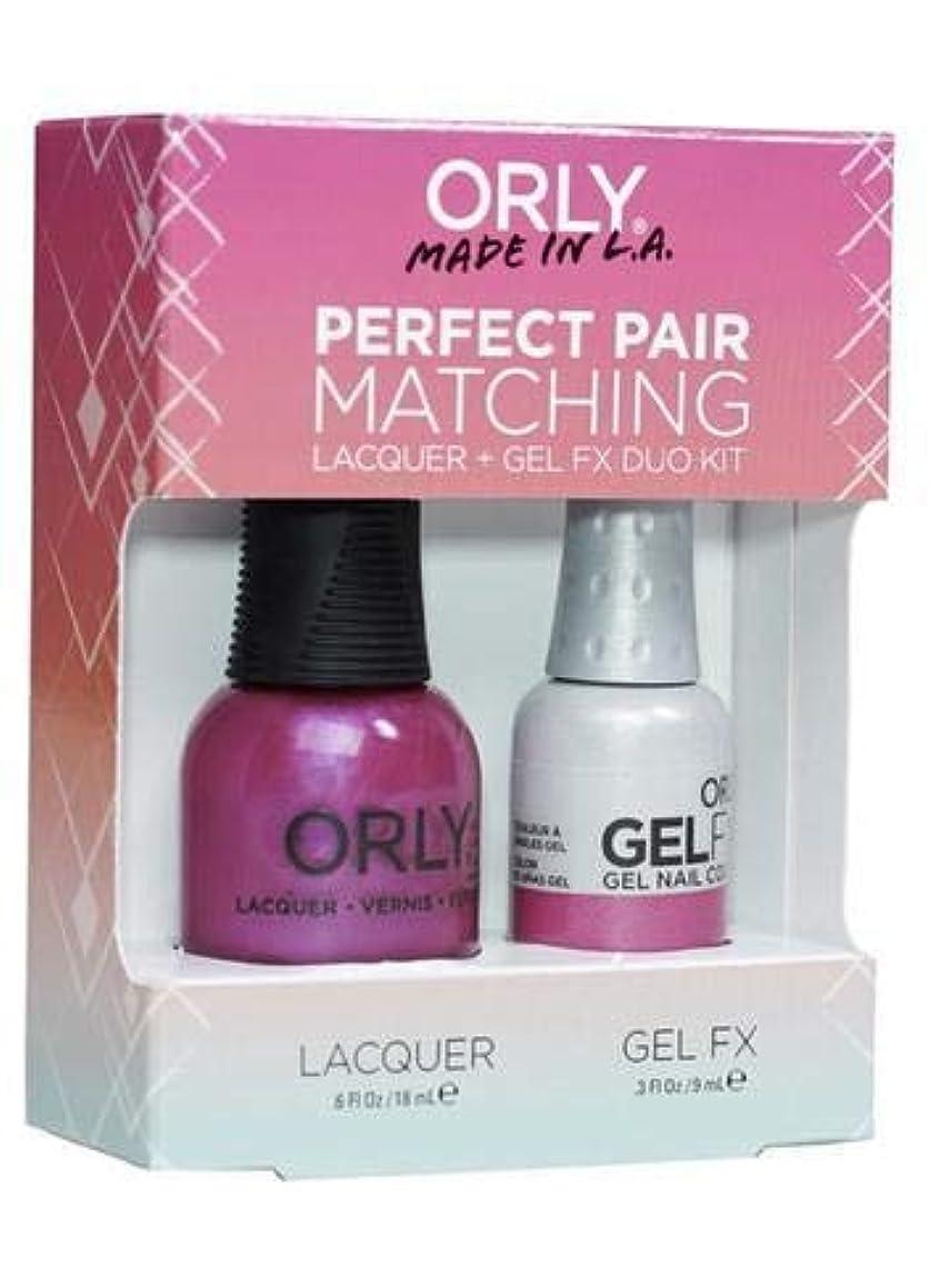 アロング政権視聴者Orly Lacquer + Gel FX - Perfect Pair Matching DUO Kit - Gorgeous